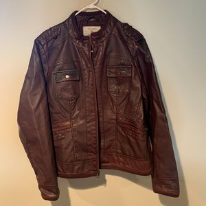 women's sonoma red leather jacket size XL